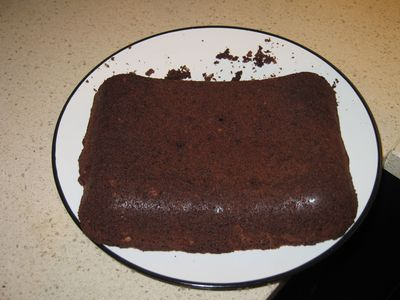 Brownie, a medio acabar